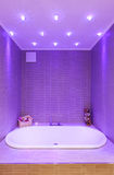 Cuarto de baño moderno, bañera Imágenes de archivo libres de regalías