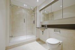 Cuarto de baño moderno de la en-habitación Foto de archivo libre de regalías