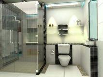 Cuarto de baño moderno de lujo Fotos de archivo libres de regalías
