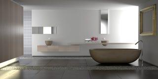 Cuarto de baño moderno de lujo stock de ilustración