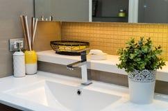Cuarto de baño moderno de lujo interior de lujo Fotografía de archivo libre de regalías