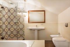 Cuarto de baño moderno del balneario Fotografía de archivo libre de regalías