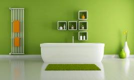 Cuarto de baño moderno verde ilustración del vector