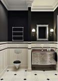 Cuarto de baño negro Foto de archivo libre de regalías
