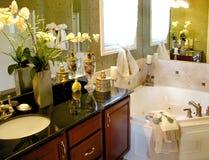 Cuarto de baño principal exclusivo Foto de archivo libre de regalías