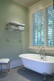 Cuarto de baño retro Foto de archivo libre de regalías