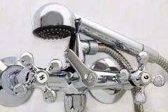 Cuarto de baño sanitario del grifo Fotos de archivo