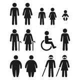 Cuarto de baño y símbolos médicos de la gente libre illustration
