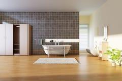 Cuarto de baño moderno Imágenes de archivo libres de regalías