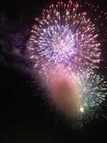 Cuarto de Clifton Park Fireworks At The de julio Foto de archivo libre de regalías