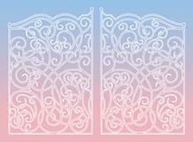 Cuarto de galón color de rosa de la mezcla del color del año de las puertas del ornamento del hierro 2016 ilustración del vector