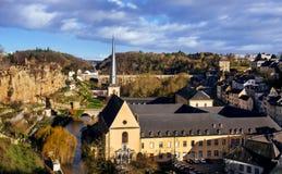 Cuarto de Grund en la ciudad de Luxemburgo Imágenes de archivo libres de regalías