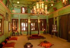 Cuarto de invitados Udaipur del palacio de la ciudad Foto de archivo libre de regalías