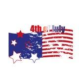 Cuarto de julio Cuarto del ejemplo simple de la celebración de julio Día de la Independencia de los E Libertad de América Fotografía de archivo libre de regalías