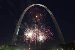Cuarto de julio en St. Louis, Missouri Fotos de archivo