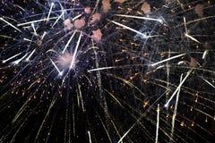 Cuarto de julio – fuegos artificiales imagen de archivo