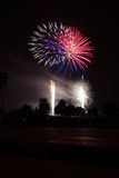 Cuarto de la celebración de los fuegos artificiales de julio Fotografía de archivo