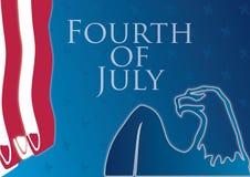 Cuarto de la composición de julio stock de ilustración