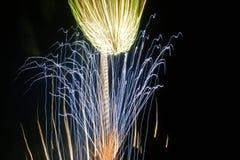Cuarto de la demostración de los fuegos artificiales de julio Fotografía de archivo libre de regalías