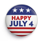 Cuarto de la insignia de julio Imagen de archivo libre de regalías