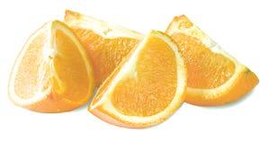 Cuarto de la naranja aislado en un blanco Fotos de archivo libres de regalías