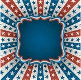 Cuarto de la tarjeta de felicitación de julio Imagen de archivo libre de regalías