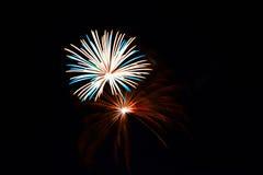 Cuarto de los fuegos artificiales de julio Fotografía de archivo