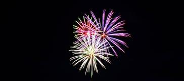 Cuarto de los fuegos artificiales de julio foto de archivo