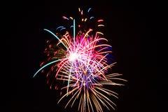 Cuarto de los fuegos artificiales de julio Fotos de archivo