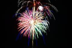 Cuarto de los fuegos artificiales de julio Imagen de archivo