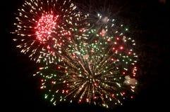 Cuarto de los fuegos artificiales de julio en bacalao de cabo Imagenes de archivo