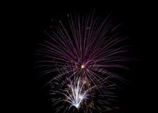 Cuarto de los fuegos artificiales de julio Fotos de archivo libres de regalías