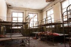 Cuarto de niños abandonado en Chernobyl Foto de archivo