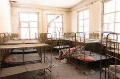 Cuarto de niños abandonado en Chernobyl Imagen de archivo libre de regalías