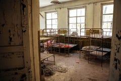 Cuarto de niños abandonado en Chernobyl Foto de archivo libre de regalías