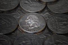 Cuarto de plata brillante Imágenes de archivo libres de regalías