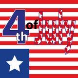 Cuarto del Día de la Independencia de julio de los E.E.U.U. Imagenes de archivo