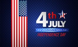 Cuarto del Día de la Independencia de julio abstraiga el fondo Vector ilustración del vector