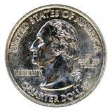 Cuarto del dólar Fotografía de archivo libre de regalías