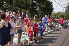 Cuarto del desfile en Chalfont, PA de julio EE.UU. Foto de archivo libre de regalías