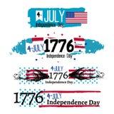 Cuarto del ejemplo de la independencia de julio stock de ilustración