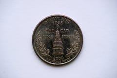 Cuarto del estado de Maryland 25 centavos Fotos de archivo