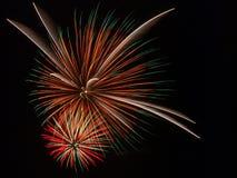 Cuarto del fuego artificial de julio Imágenes de archivo libres de regalías