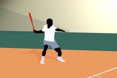 Cuarto delantero del tenis Foto de archivo