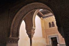 Cuarto Dorado,阿尔罕布拉宫宫殿在格拉纳达,西班牙 免版税库存照片