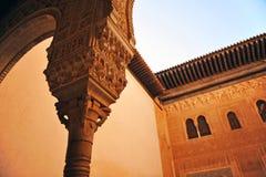 Cuarto Dorado,阿尔罕布拉宫宫殿在格拉纳达,西班牙 库存照片