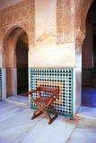 Cuarto Dorado,阿尔罕布拉宫宫殿在格拉纳达,西班牙 免版税库存图片