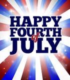 Cuarto feliz de julio Imagen de archivo