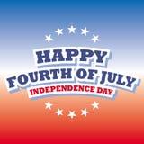 Cuarto feliz de julio - bandera del Día de la Independencia Fotografía de archivo