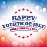 Cuarto feliz de julio - Día de la Independencia Foto de archivo